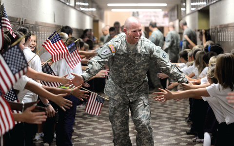 soldier homecoming because of better warfighter services