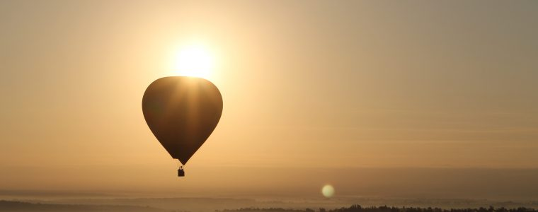 hot air balloon provides an escape similar to innovation series