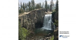 waterfall in northern California