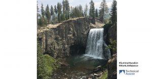 waterfall in northern California