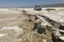 A fault line from an earthquake in Southern California
