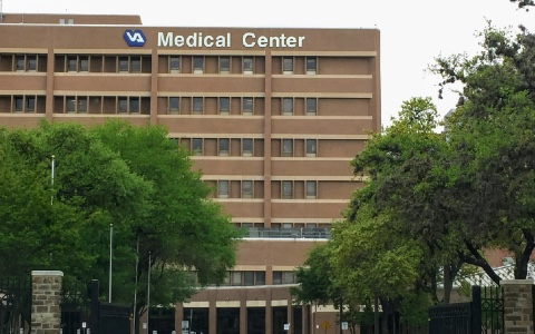 Exterior of a large Veterans Affairs medical center
