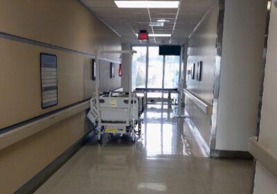 A hallway at a Veterans Affairs medical center